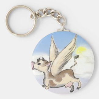 If Cows could fly... Keychain
