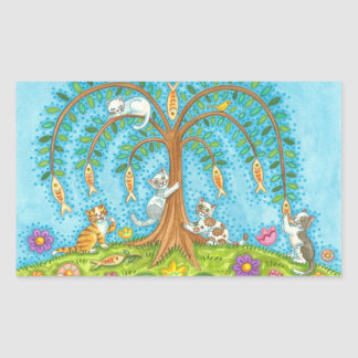 If Fish Grew On Trees Cats Kittens Willow STICKERS