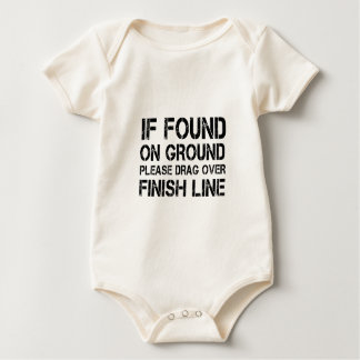 If Found On Ground Please Drag Over Finish Line Baby Bodysuit
