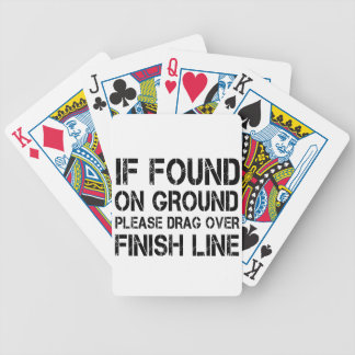 If Found On Ground Please Drag Over Finish Line Bicycle Playing Cards