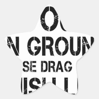 If Found On Ground Please Drag Over Finish Line Star Sticker