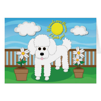 If friends were flowers, I'd pick you! Dog Card