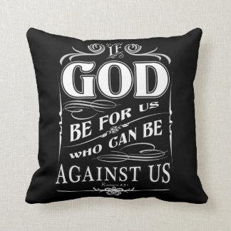 If God Christian Scripture Sayings Throw Pillow