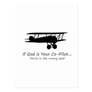 If God is Your Co-Pilot Postcard