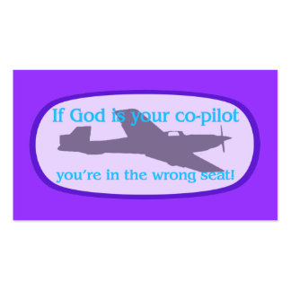 If God is your co-pilot Tract Cards / Pack Of Standard Business Cards