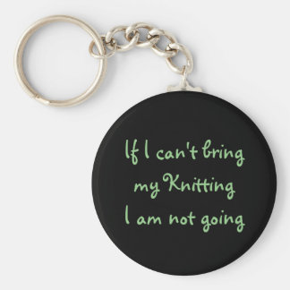 If I can't bring my Knitting... Keychain