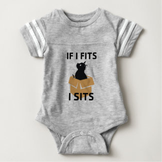 If I Fits I Sits Baby Bodysuit