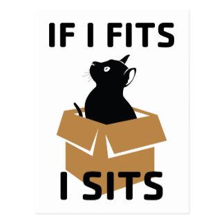 If I Fits I Sits Postcard