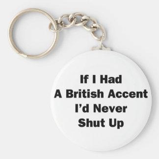 If I Had a British Accent Basic Round Button Keychain