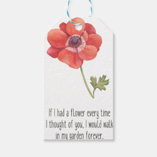If I had a flower Gift Tags