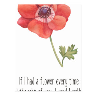 If I had a flower Postcard