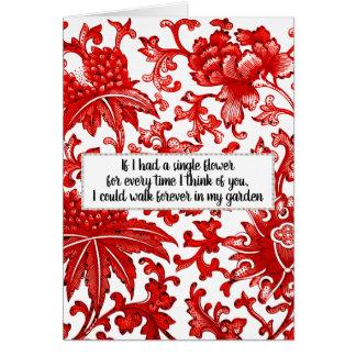 """If I had a single flower"" Card"