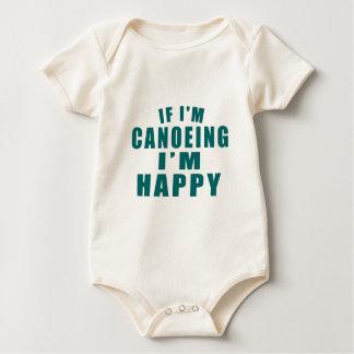 IF I'M CANOEING I'M HAPPY BABY BODYSUIT