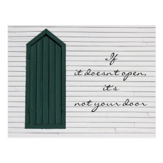If it doesn't open, it's not your door postcard