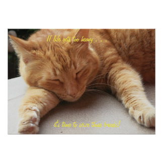 If life gets too heavy Cat Poster