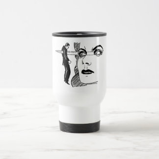 If Looks Could Kill (Dagger Eyes) Stainless Steel Travel Mug