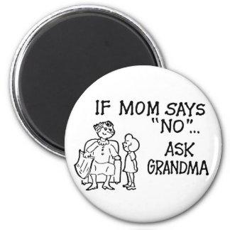 """If Mom Says """"NO""""... Ask Grandma Magnet"""