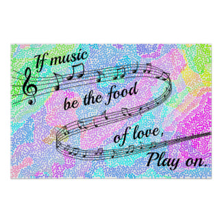 """""""If music be the food of love"""" -Shakespeare Poster"""