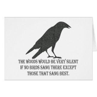 If No Birds Sang Card