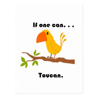 If One Can. . .Toucan Cartoon Postcard