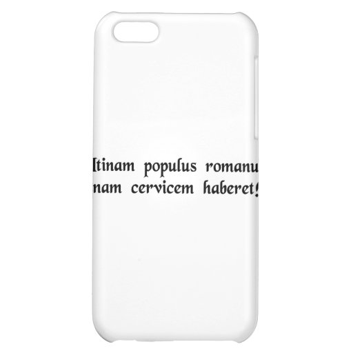 If only the Roman people had one neck! Cover For iPhone 5C