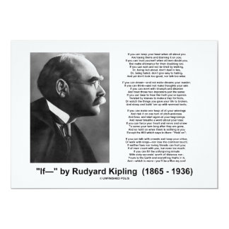 """If— "" Poem By Rudyard Kipling Invite"