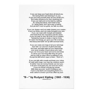 If- Poem by Rudyard Kipling (No Kipling Picture) Stationery