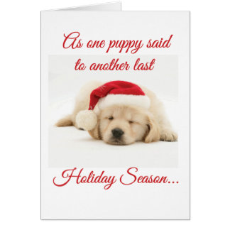 If Puppies Could Talk Holiday Card