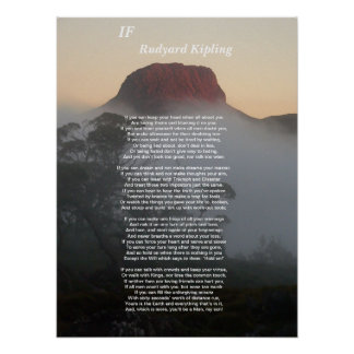 If - Rudyard Kipling Poster