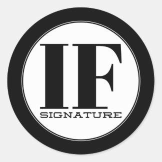 IF Signature Classic Round Sticker
