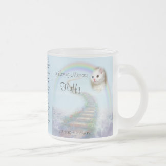 If Tears Could Build a Stairway Pet Memorial Frosted Glass Coffee Mug