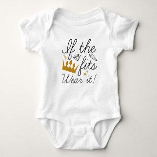 If The Crown Fits. Wear It! Baby Bodysuit