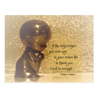 If the only prayer you ever say is Thank You Postcard
