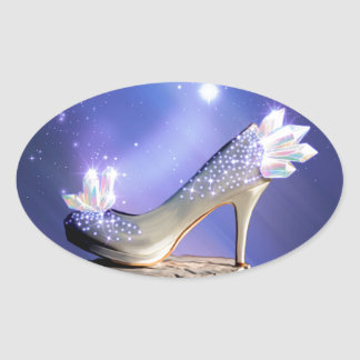 If The Shoe Fits Oval Sticker