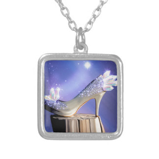 If The Shoe Fits Silver Plated Necklace