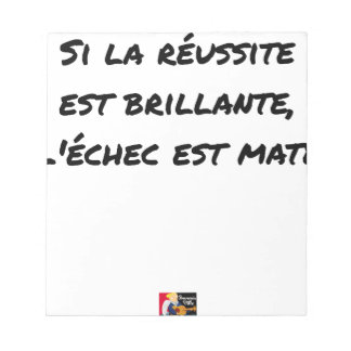 If the Success is brilliant, the failure is matt Notepad