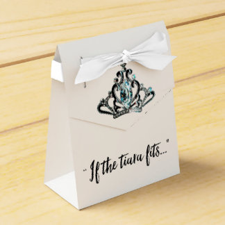 """If The Tiara Fits...!"" Wedding Favor Box"