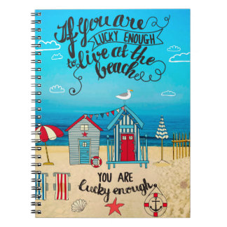 If You Are Lucky Enough| Script Beach Quote Notebook