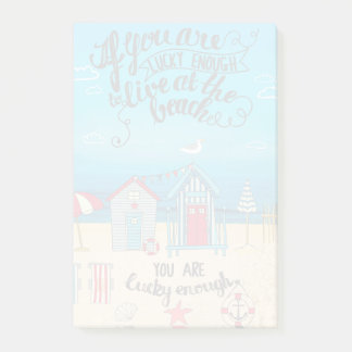 If You Are Lucky Enough| Script Beach Quote Post-it Notes