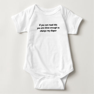 if you can read this baby bodysuit