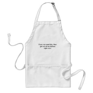 """if you can read this.."" (kitchen) standard apron"