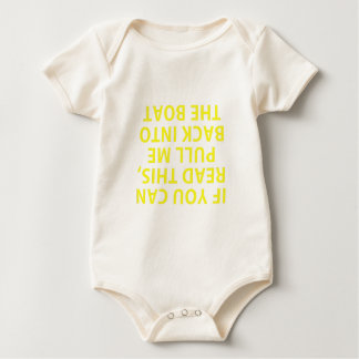 If You Can Read This Pull Me Back Into The Boat Baby Bodysuit