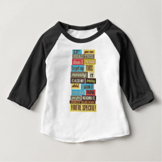 if you can read this then I manged to text and Baby T-Shirt