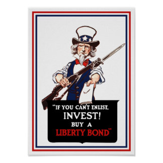 If You Can't Enlist, Invest! -- WWI Uncle Sam Print