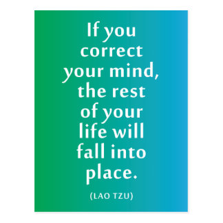 If you correct your mind... Inspirational Poster Postcard