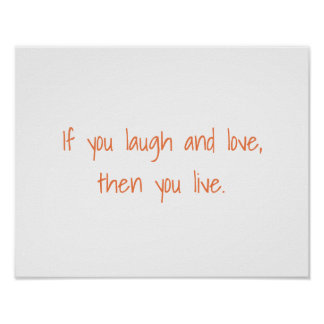 If You Laugh Simple Lettering Motivational Poster