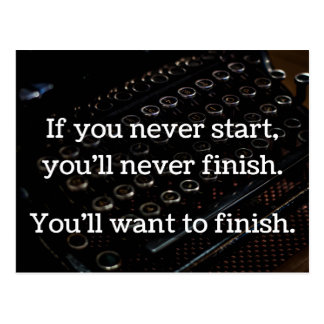 If You Never Start Postcard