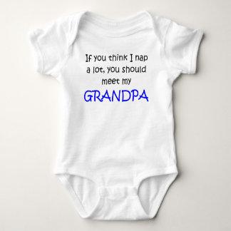 If you think I nap alot meet Grandpa Baby Bodysuit