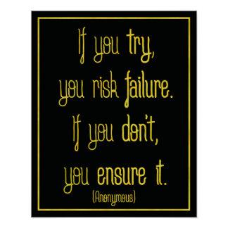 'If you try' motivational quote poster