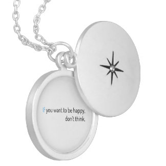 if you want to be happy, don't think silver plated necklace